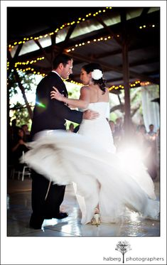 rancho dos pueblos wedding dress blur first dance action motion