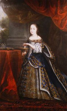 Henriette-Anne married at about the age of 17. This portrait shows that she was short. Married to Charles I King at Canterbury on 13 June 1625.