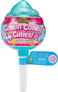 Zuru Oosh Slime Cotton Candy Cuties Medium Pop with Cutie Surprise - Stretchy Foam Series 1 Random Packaging - Toys Gag Gifts, Funny Gifts, Toys For Girls, Kids Toys, Cotton Candy Slime, Lol Dolls, Christmas Toys, Doll Accessories, Cool Toys