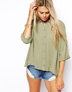Изображение 1 из Oversize-блузка из жатой ткани ASOS