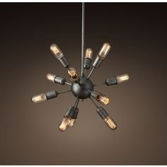"""Sputnik Filament Chandelier 21"""" DW- throwing out some diff options, just in case..."""