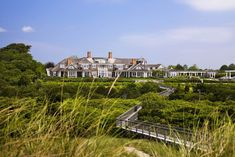 Billionaire Ron Baron's 40 Acre East Hampton Estate (PHOTOS) - Pricey Pads East Hampton New York, Hamptons New York, Weekend Cottages, Ocean Front Property, Ocean House, Beach House, Traditional Exterior, House And Home Magazine, Earth
