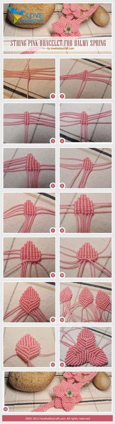 Micro Macrame Bracelet Jewelry Tutorial @lovehobbycraft