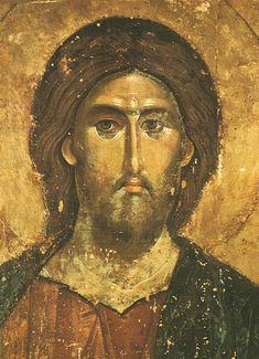 Ikonenmalerei - Christ the Redeemer / Icon painting Byzantine Icons, Byzantine Art, Religious Icons, Religious Art, Christus Pantokrator, Christ The Redeemer, Sacred Art, Christian Art, Tree Of Life