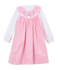 This Pink Snowman Embroidered Yoke Dress & Turtleneck - Kids by Petit Ami is perfect! #zulilyfinds
