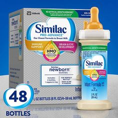Similac Pro-Advance Infant Formula with Human Milk. Baby Bottles, Drink Bottles, Amazon Subscribe And Save, Baby Formula Coupons, Preemie Babies, Twin Babies, Health World, Baby Shower Gifts For Boys, Baby Health