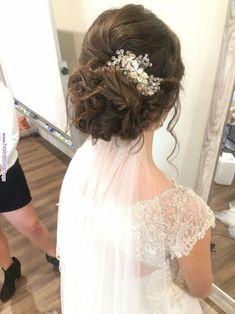 Pin by Stella - Ideal wedding planner for wedding hairstyles with veils P . - Pin by Stella – Ideal wedding planner for wedding hairstyles with veils Pinter … – hair, hair - Veil Hairstyles, Wedding Hairstyles With Veil, Wedding Updo, Vintage Hairstyles, Bridal Hair Updo With Veil, Easy Hairstyles, Wedding Hair Brunette, Brunette Bride, Wedding Pinterest