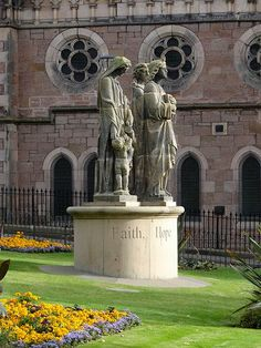 Statues of the Three Virtues (side view), Inverness, Scotland We saw this! I have some pictures!