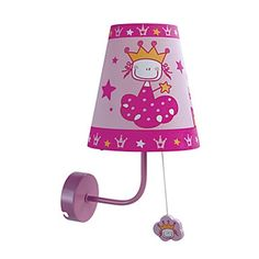 40W Contemporary Fabric Children Wall Light with 1 Light in Pink – LightSuperDeal.com