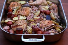 spanish roast chicken with chorizo by Elly Says Opa, via Flickr