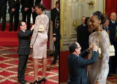 Hollande et la basketteuse Sandrine Gruda
