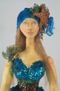 E-Pattern for Treasures of the Deep Cloth Doll  Ask a Question $10.00