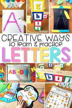 The literacy activities include letter songs, games, books, tracing, crafts Teaching Letter Recognition, Letter Identification Activities, Letter Tracing, Preschool Learning Activities, Kindergarten Letter Activities, Teaching Resources, Learning Games, Free Preschool Games, Preschool Classroom Setup