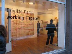 Brigitte Dams, working | space, Installation in der Galerie Junge Kunst, 10. Mai bis 21. Juni 2014. Vernissage am 9. Mai 2014.