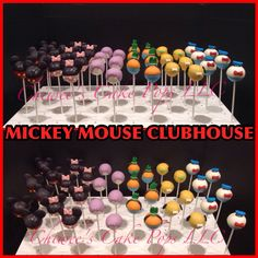 Mickey Mouse clubhouse cake pops  www.chiweescakepops.com
