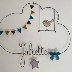 Etsy - Shop for handmade, vintage, custom, and unique gifts for everyone Wire Letters, Juliette, Romeo And Juliet, Mobiles, Jewel, Pretty, Handmade, Feather, Nursery