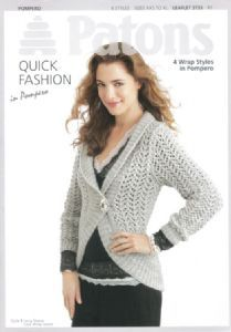 Patons Pompero 4 Wrap Styles Knitting Pattern 3733 REDUCED