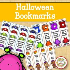 Halloween Bookmarks by Sweetie's | Teachers Pay Teachers Learning Resources, Teaching Ideas, Kindergarten Blogs, School Reviews, Learn To Spell, Sight Word Activities, Teacher Organization, Elementary Education, Worksheets For Kids