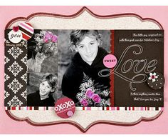 """Design by Amy Licht Amy altered these digital photos of her son delivering a special Valentine's Day gift to emphasize the flowers in the shots. She turned the images black-and-white, then selected the flower areas in each shot and applied a shade of pink that matched the cardstock and embellishments she planned to use. Editor's Tip: Die-cut papers are all the rage but they're usually only available in 12x12"""" sheets. To adapt the larger design to her 8-1/2x11"""" page, Amy trimmed off two…"""