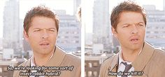 Castiel trying to comprehend Bugs Bunny. So we're looking for some sort of insect-rabbit hybrid? How do we kill it? ✪ #SPN