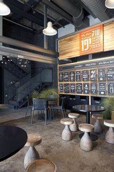 Would love that stools and table for our patio (Jaffa Port Market / Jacobs-Yaniv Architects)