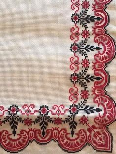 This Pin was discovered by Ruh Just Cross Stitch, Cross Stitch Borders, Cross Stitch Designs, Cross Stitching, Cross Stitch Embroidery, Hand Embroidery, Cross Stitch Patterns, Embroidery Patterns Free, Embroidery Designs