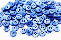 10 Blue Lined Button Line Edge Button Four by boysenberryaccessory