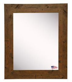 48 in. x 36 in. Rustic Light Walnut Non Beveled Vanity Wall Mirror - The Home Depot Mirror Wall Collage, Oversized Wall Mirrors, Wall Mirrors Entryway, White Wall Mirrors, Silver Wall Mirror, Lighted Wall Mirror, Vanity Wall Mirror, Rustic Wall Mirrors, Round Wall Mirror