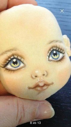 Ольга Москаленко Doll Face Paint, Doll Painting, Doll Clothes Patterns, Doll Patterns, Face Painting Designs, Doll Eyes, Sewing Dolls, Doll Tutorial, Doll Repaint