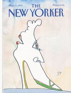 "The New Yorker - Monday, May 1993 - Issue # 3560 - Vol. 69 - N° 13 - Cover ""The Shoe"" by Saul Steinberg The New Yorker, New Yorker Covers, Saul Steinberg, Shoe Poster, Smart Set, Vintage Poster, Illustrations, Mixed Media Artists, Caricature"