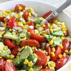 Avocado, Tomato & Corn Salad