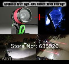 12W 1800Lm Zoom CREE XML T6 Bicycle Bike Light Lamp Headlight + 100% free bicycle rear light $53.00