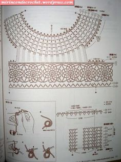 Accessories and decoration of clothing russian site but lots of diagrams byTunics and camisoles - Augusta - Álbuns da web do PicasaCrochet dress — Crochet by Yana Col Crochet, Crochet Collar, Crochet Girls, Crochet Diagram, Crochet Woman, Crochet Blouse, Crochet Motif, Crochet Designs, Crochet Stitches