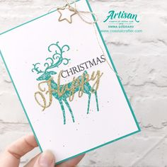 Stampin' Creative - Alternative Christmas Colours! - Coastal Crafter Merry Christmas To All, Christmas Night, Christmas Cards To Make, Christmas Colors, Holiday Cards, Christmas Crafts, Stamped Christmas Cards, Handmade Christmas, Traditional Ideas