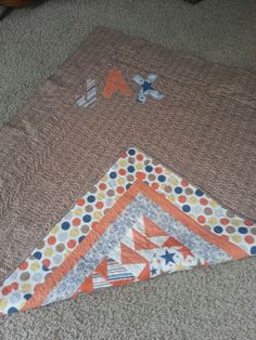 Back of baby Jax quilt