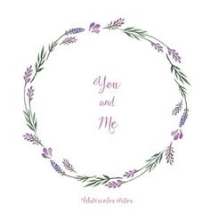 Watercolor decorative elements round frame of lavender vector lilac frame by meggichka on VectorStock®