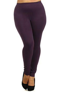ICONOFLASH Women's Plus Size Seamless Solid Color Nylon Legging, Dark Plum ShoSho http://www.amazon.com/dp/B0155GOVRQ/ref=cm_sw_r_pi_dp_8rJbwb0DMDH0Y