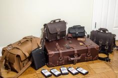 Matt Simmons shows off a bit of his Saddleback Leather collection.