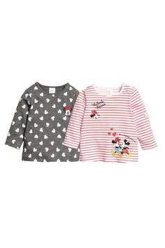 Pack de 2 camisetas - Gris/Minnie Mouse - NIÑOS | H&M ES 1