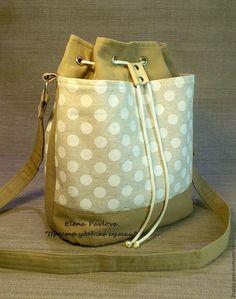 """Купить cумка - торба """" Белый горошек"""" - удобная сумка, стильный аксессуар, сумка из ткани"""
