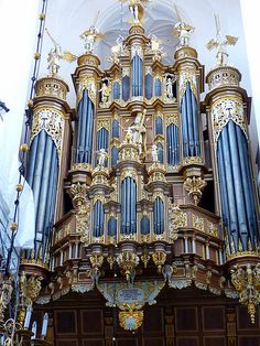 The Stellwagen Organ in St. Mary's Church, Stralsund built from 1653-1659 by Friederich Stellwagen.