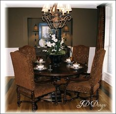 "Dining Room Decorating Ideas . Paint color ""chipmunk"" by Porter Paints."