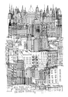 all the buildings in new york by james gulliver hancock