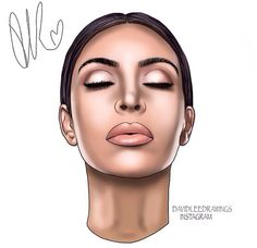 Cool Drawings Tumblr, Girly Drawings, Art Drawings, Kim Kardashian Tattoo, Kim Kadashian, Divas, Celebrity Drawings, Famous Art, Dope Art