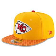 47a9b987f Kansas City Chiefs New Era 2017 Sideline Official 9FIFTY Snapback Hat - Gold