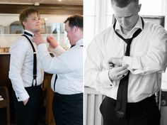 Wedding preparations, groom getting ready, help from best man, groomsmen, bridal portraits, Hillringsbergs herrgård, värmland bröllop, sweden, [Photo by Anna Lauridsen Kullafoto] http://annalauridsen.com
