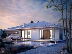 Feniks (139,11 m2) to nowoczesny dom parterowy. Pełna prezentacja projektu dostępna jest na stronie: https://www.domywstylu.pl/projekt-domu-feniks.php. #feniks #projekty #projekt #projektygotowe #domywstylu #mtmstyl #projektydomow #projektydomów #projektynowoczesne #moderndesign #design #houses #home #dom #domy #newdesign