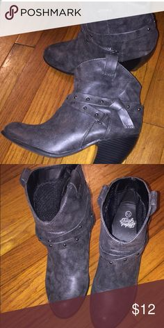 Booties Charcoal grey booties (ankle boots) Worn once ! Shoes Ankle Boots & Booties