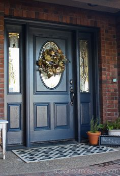 82ac02e33aa6cd96951f6a124e912d9b--blue-front-doors-paint-colors-to-go-with-red-brick