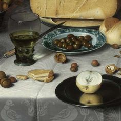"Detail from ""Breakfast Still Life"" by Floris Claesz. van Dijck, 1615…"